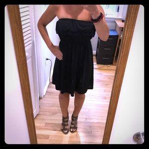 Off Shoulder Black Dress! Size Small.  Like New
